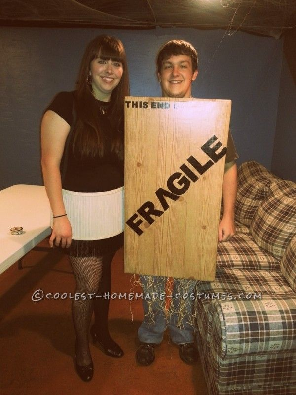 a christmas story leg lamp and fragile crate costume