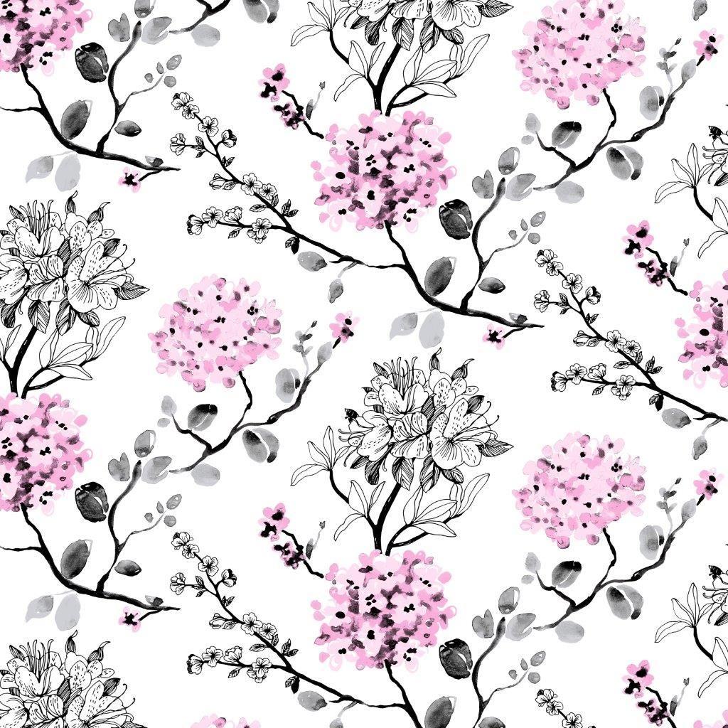 Melissa wallpaper, pink. Design Tanja Orsjoki Wallpaper