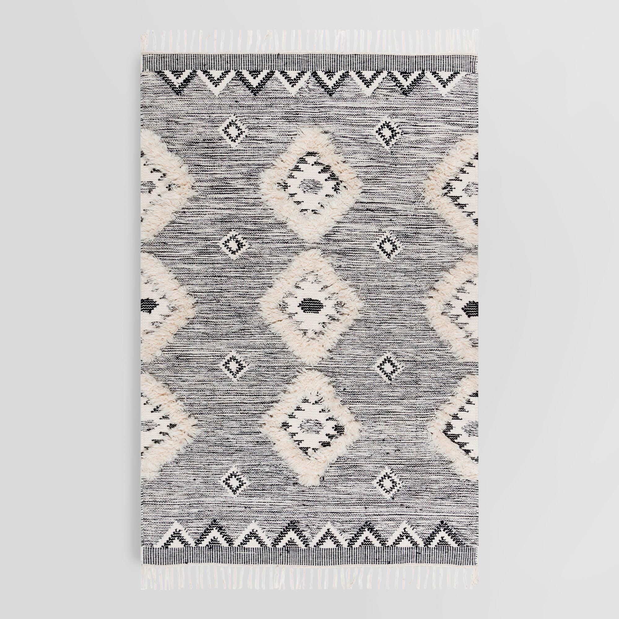 Charcoal Gray Moroccan Fringe Sahara Area Rug 8ft6 X11ft6 By
