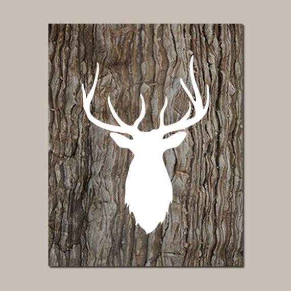 Deer Nursery Art, Deer Wall Art, Boy Nursery Decor, Boy ...