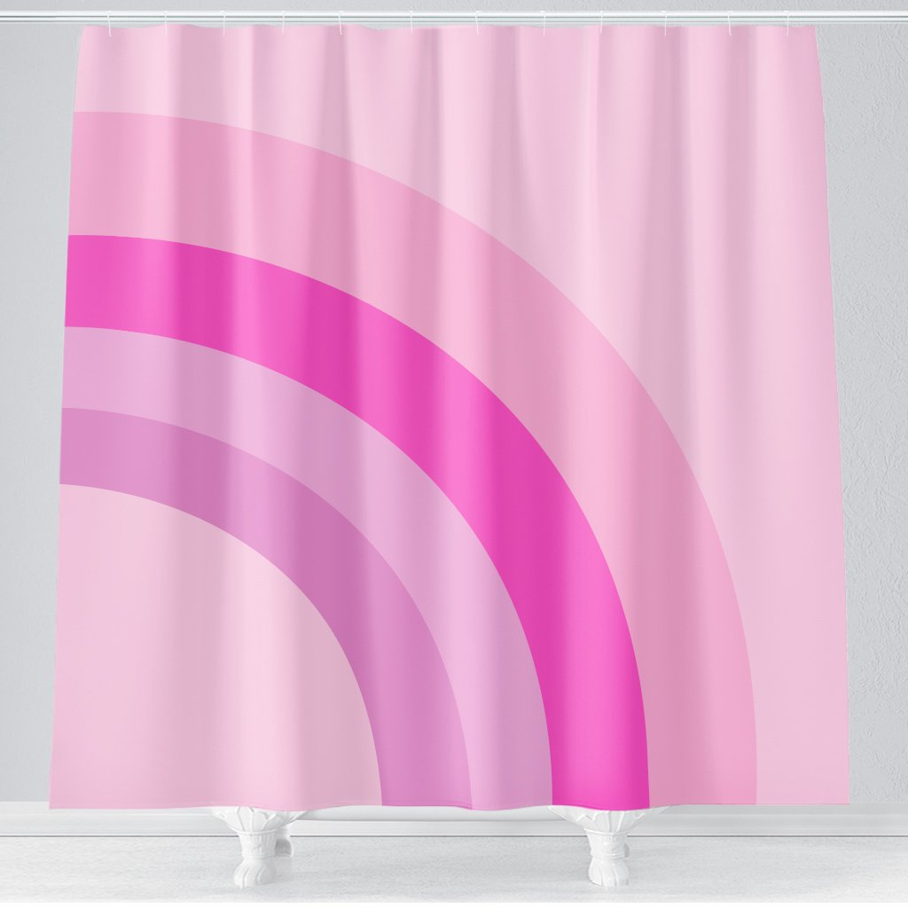 Mod Rainbow Shower Curtain Hello Sunny Day Pinkbathroom