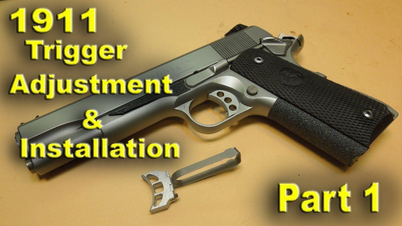 1911 Pistol Trigger Adjustment for Overtravel and Pretravel - PART 1 ...