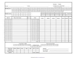 Image Result For Team Bowling Score Sheets  S