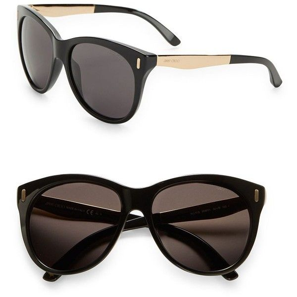1b90aed0ba1 Jimmy Choo 56mm Cat Eye Sunglasses ( 295) ❤ liked on Polyvore featuring  accessories