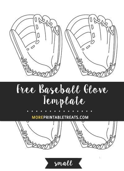 Free Baseball Glove Template Small Fonts Marlins Baseball