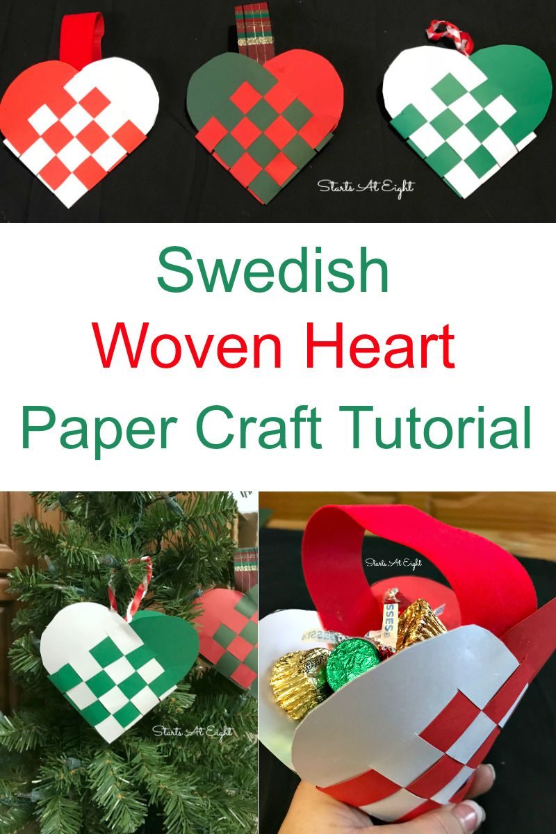 Swedish Woven Heart Paper Craft Paper hearts, Paper