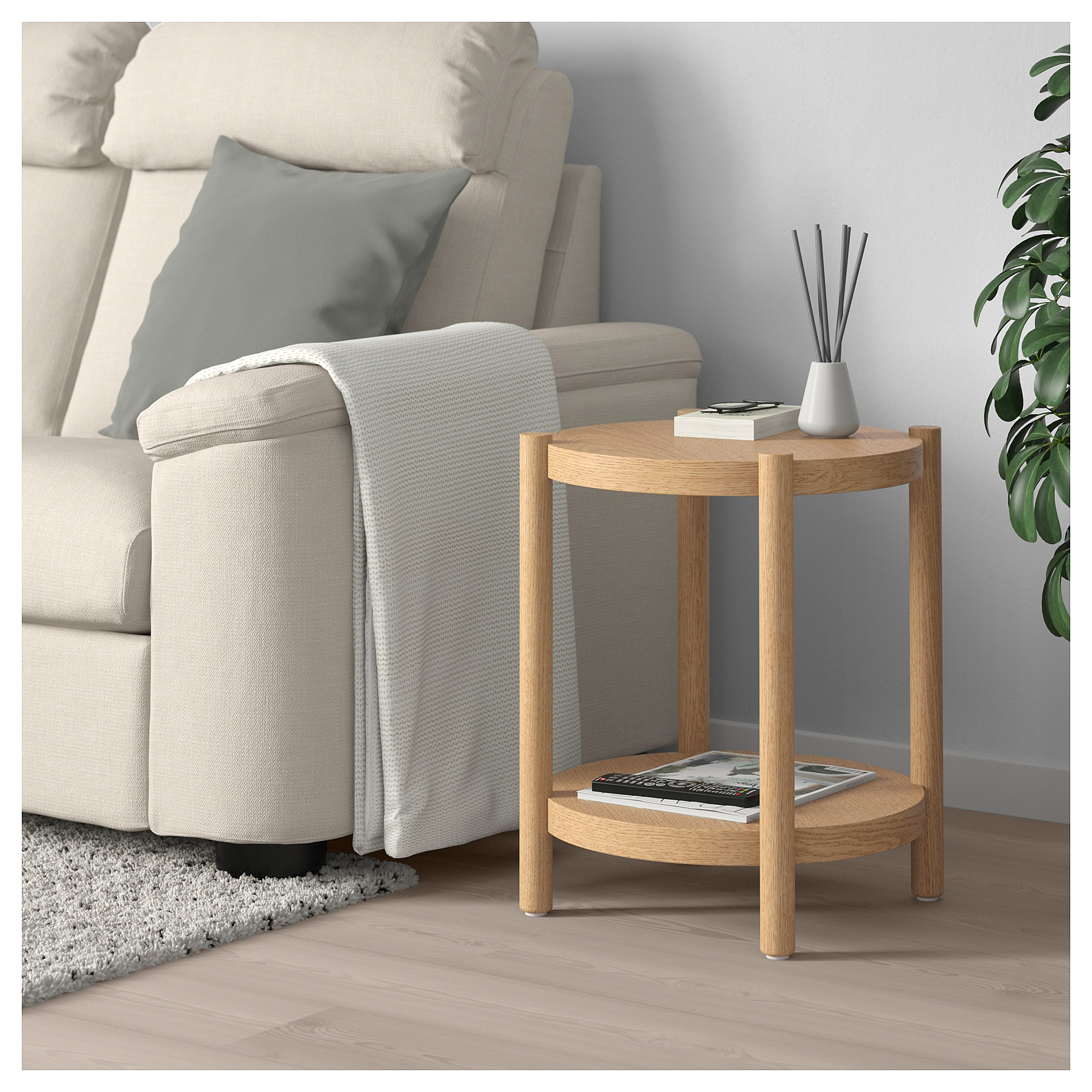 Listerby Side Table White Stained Oak 19 5 8 Ikea White Side Tables Ikea Side Table Side Table