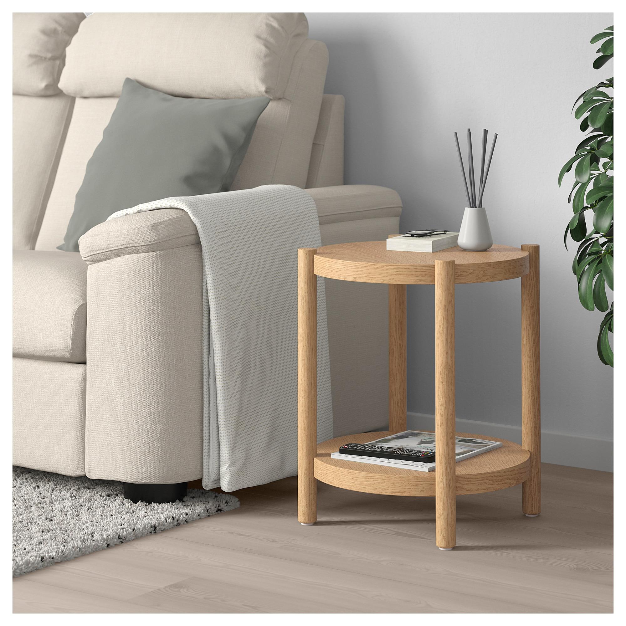 Listerby Side Table White Stained Oak 19 5 8 Ikea Oak Side Table White Side Tables Ikea Side Table [ 2000 x 2000 Pixel ]