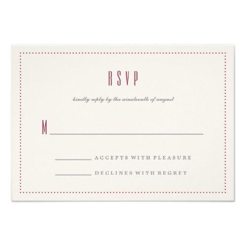 classic hexagon rsvp card maroon formal wedding invitations
