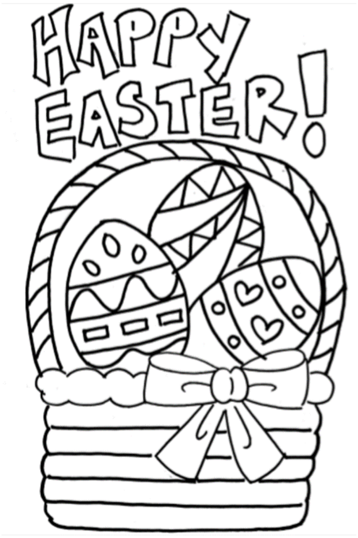 Free Easter Coloring Pages For Kids Kidsactivities Freeprintables Toddlers Prescho Coloring Pages For Kids Easter Coloring Pages Free Easter Coloring Pages
