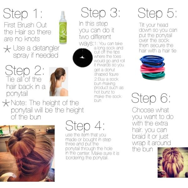"""How to Make a Sock Bun"" by gracecon23 on Polyvore"