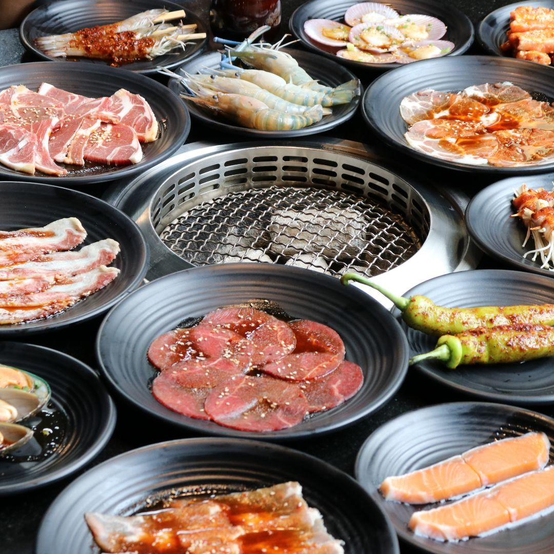 King Kong Yakiniku Buffet Food Pork Dishes Asian Bbq