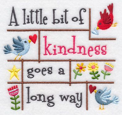 A Little Bit of Kindness Goes a Long Way design (K2404) from www.Emblibrary.com