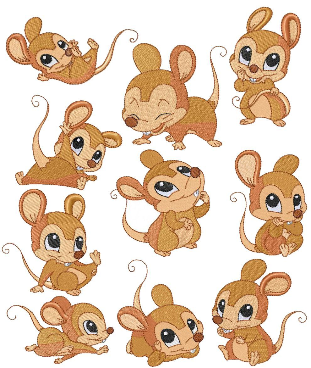 how to draw a cute baby mouse