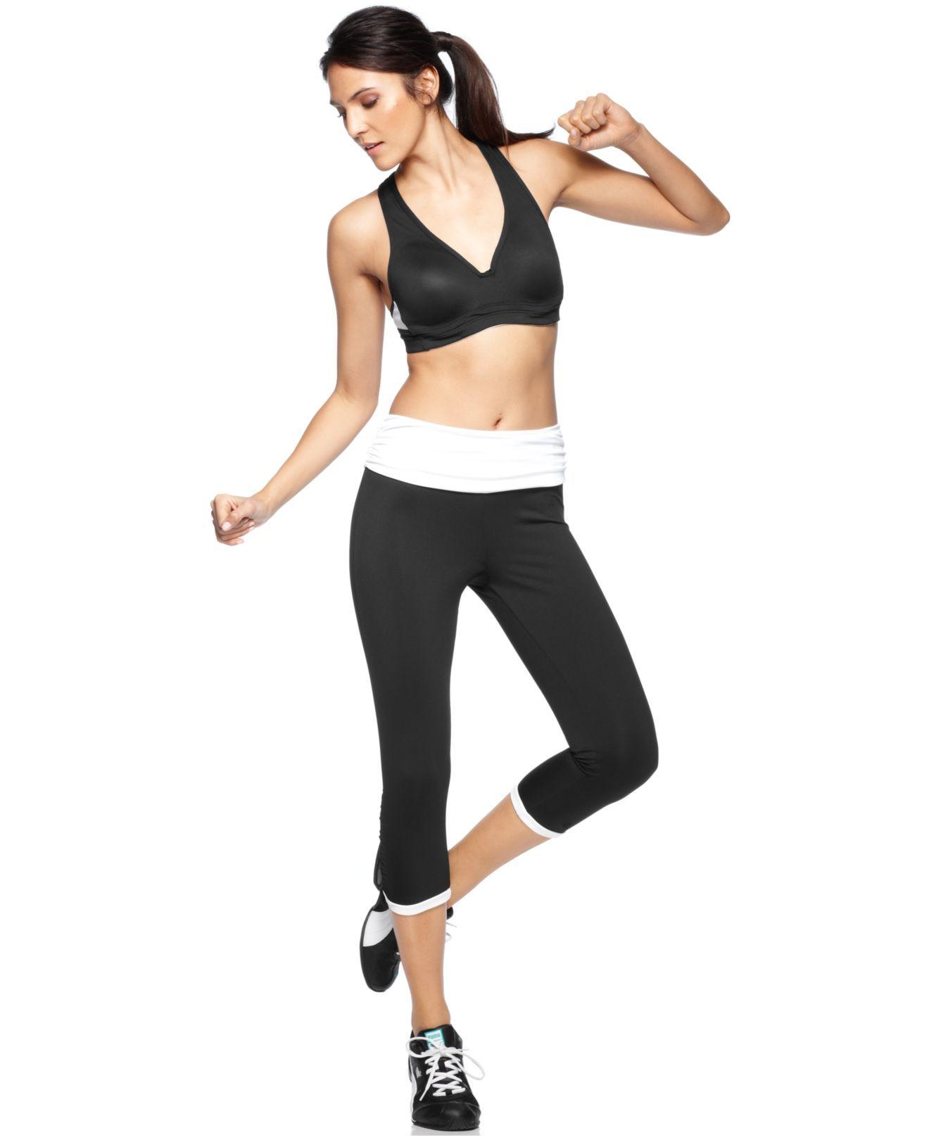 16f027e2c923 Ideology V-Neck Sports Bra & Cropped Skinny Active Pants - Womens Activewear  - Macy's