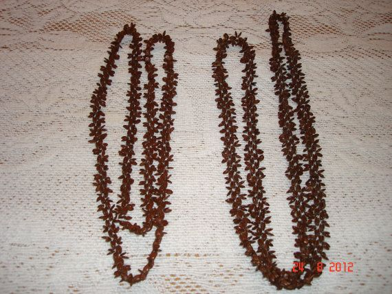 real seeds bead vintage necklace