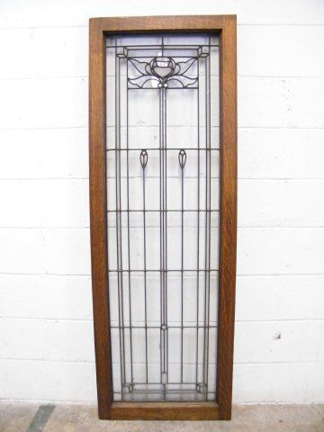 Columbus Architectural Salvage   Leaded Glass Window Panel