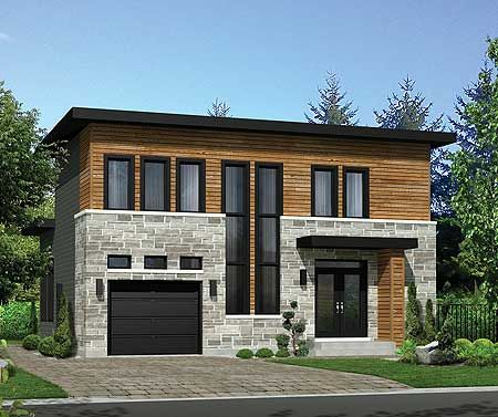 Plan 80859pm Modern House Plan With Lots Of Storage Modern House Plan Small House Plans Modern House