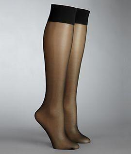 55b0f5e4a8968e HUE Silky Sheer Knee High Socks, 1, Black HUE. $8.50 | Clothing ...