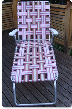 Re Webbing Chaise Lounge With Images Patio Chairs