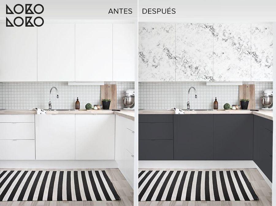 antes-y-despues-cocina-blanca-renovada-vinilo-marmol-y-gris-oscuro