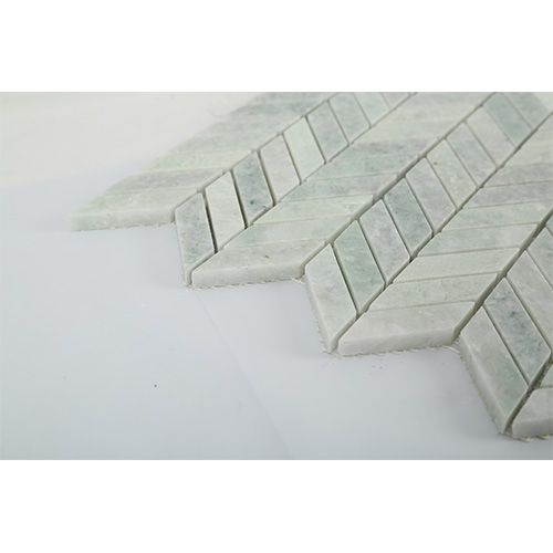 Ming Green Marble Chevron Mosaic Wall Tile Design Wall Tiles Design Mosaic Wall Tile Designs Marble Tile Floor