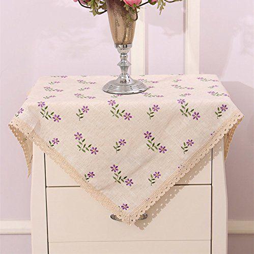 European Garden Embroidered Tablecloth Household Coffee Table