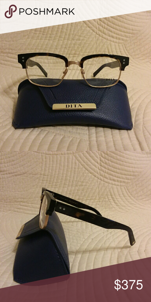 29263ca3bf9 Dita Statesman Two Optical Frame Black and leopard frame Demo lenses Made  in Japan Comes in box
