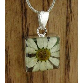 Square Flower Silver Pendant (Small) | Handmade Mexican jewellery from Silver Bubble http://silverbubble.co.uk/square-flower-daisy-silver-pendant-small-3391