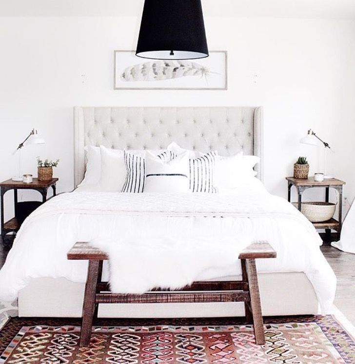 Not the bedding. Just the rug and bench.
