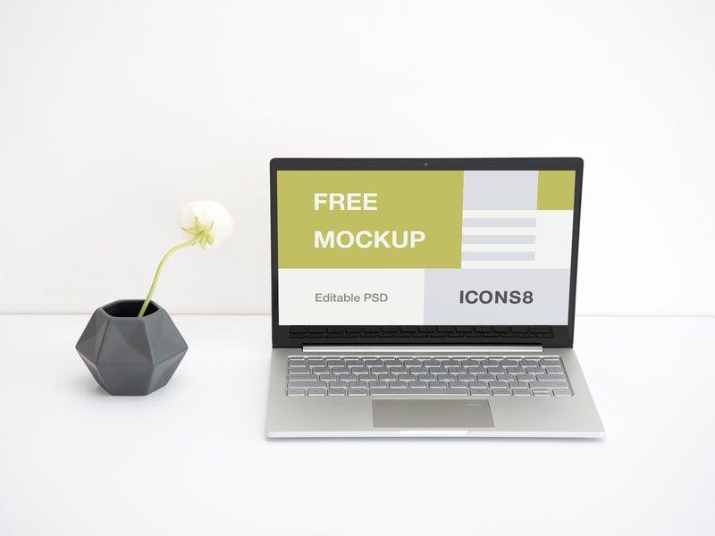 Free Work Space Laptop Mockup Mockup Macbook Mockup Free Mockup Design