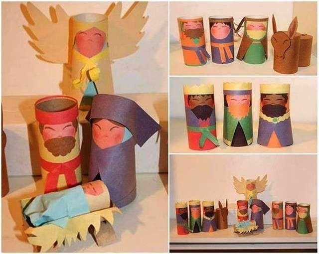 Manualidades Navidad con rollos de papel fotos ideas para niños