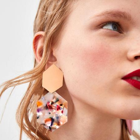 Photo of Style Vintage Fashion Resin Earrings for Women 2019 Big Geometric Acrylic Drop