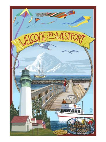 Westport, Washington Views Premium Poster at Art.com