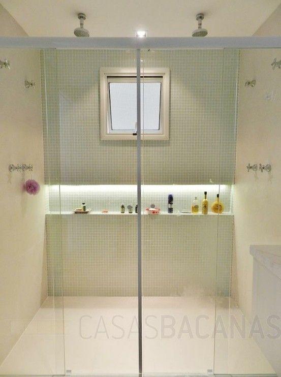 Nicho Para Banheiro Curitiba : Pastilhas nicho ilumina??o arq interiores banheiros