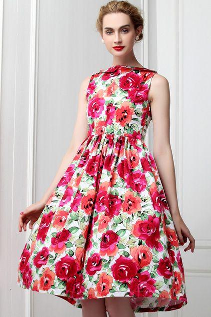 Vestido vermelho da flor