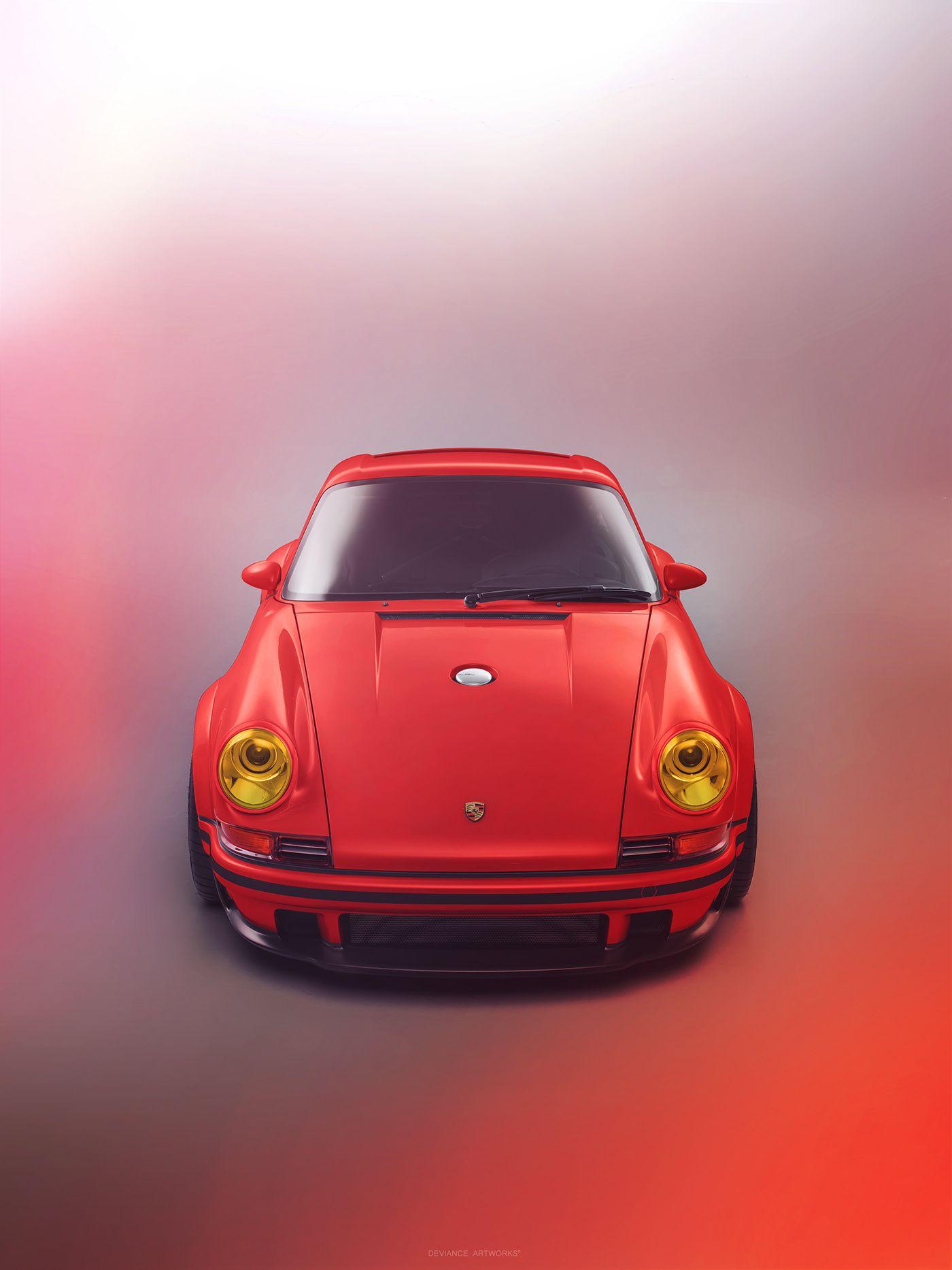 A Colors Story Singer Dls On Behance Singer Vehicle Design Singer Porsche Vintage Porsche Porsche cars hd red behance images