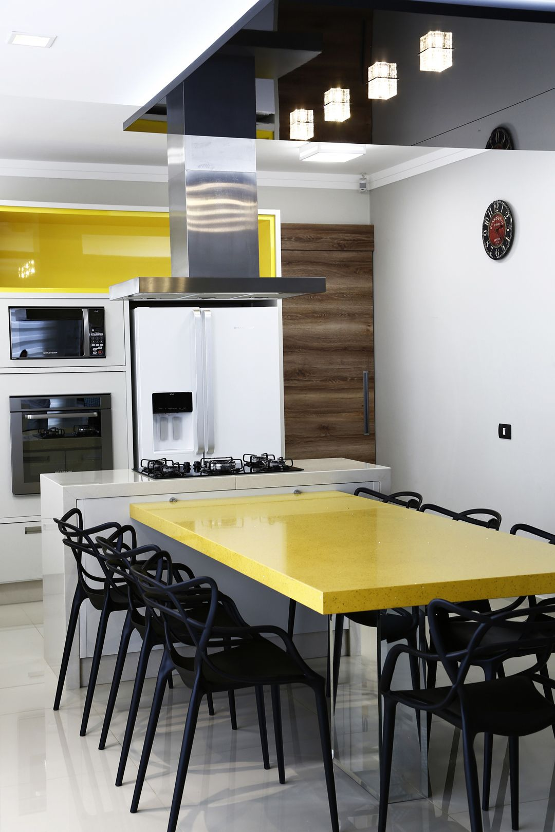 Cozinha kashmir nicho citrino mesa silestone amarelo stellar cozinhas pinterest - Mesa de silestone ...