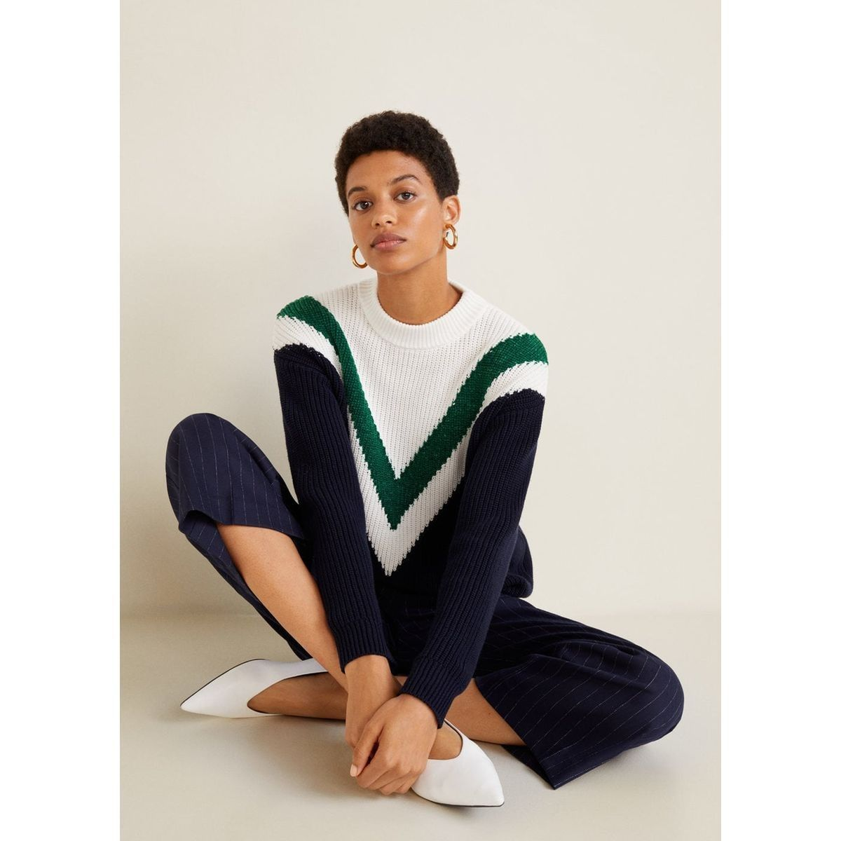7393389b9e48 Products Cotton Taille Tricolore Pull Coton Over 42 38 36 ww0zX