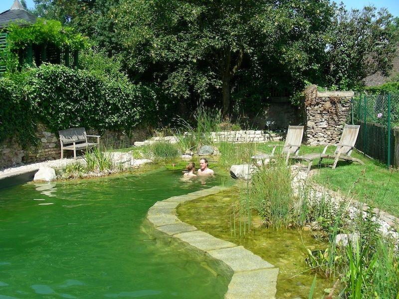 piscine naturelle en allemagne natural swimming pond. Black Bedroom Furniture Sets. Home Design Ideas