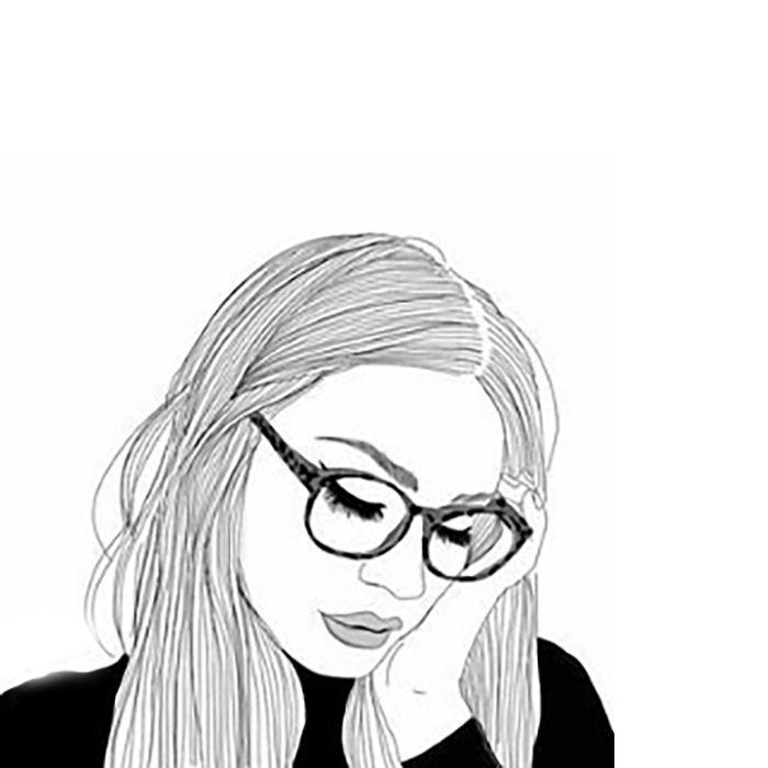 Ilustración de chica mirando hacia el suelo.   Bocetos ...