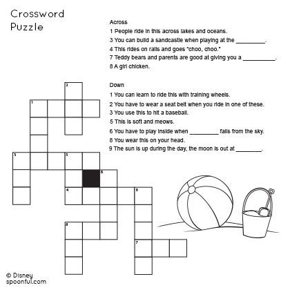2nd Grade Beach-Themed Crossword Puzzle | ideas for future ...