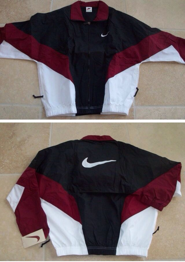 1bffae3f98ecd simple as sewing white trims to add unique details Vintage Nike  Windbreaker
