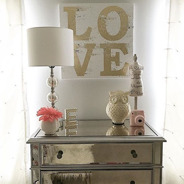 Such A Pretty Mirrored Dresser Along With All The Little Details Thanks For