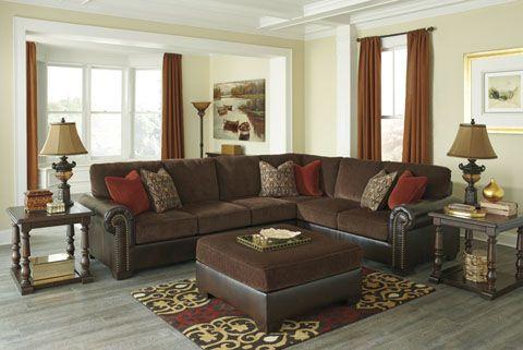 Ashley Furniture 83500 Arlette Truffle Sectional Furniture Ashley Furniture Sale Living Room Decor