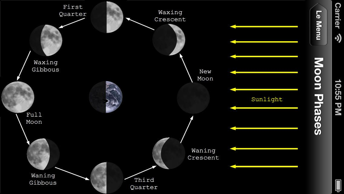 Exploring astronomy moon phases ios iphone this app is