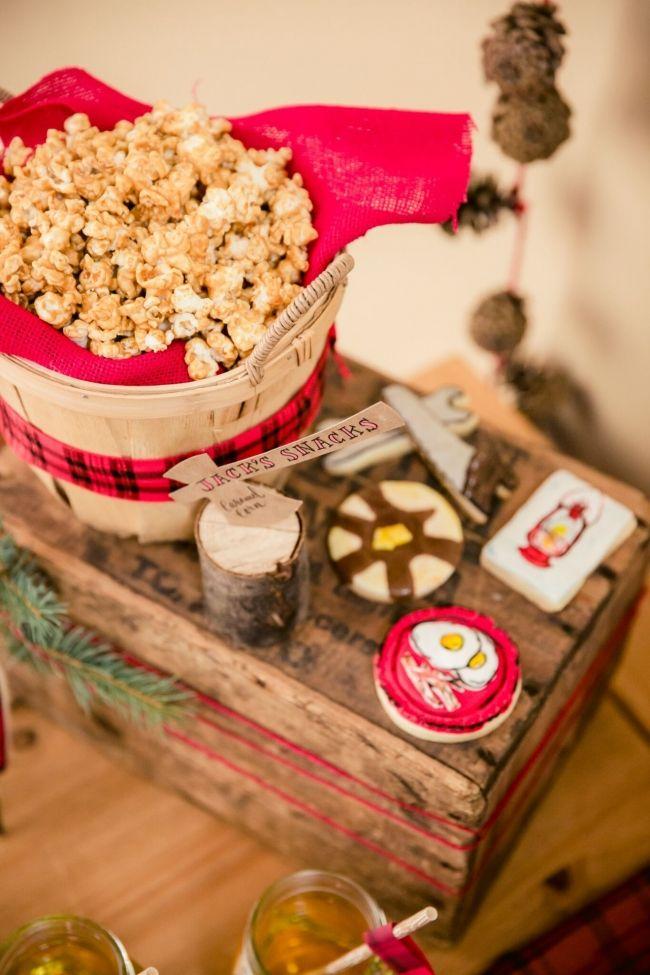 Boys Lumberjack Themed Birthday Party Food Display Ideas