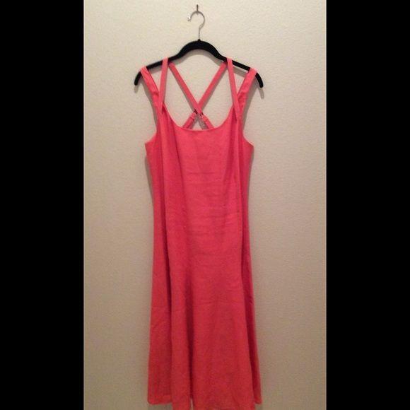 0dbb3bb024 Coral Linen Sun Dress NOW REDUCED Beautiful