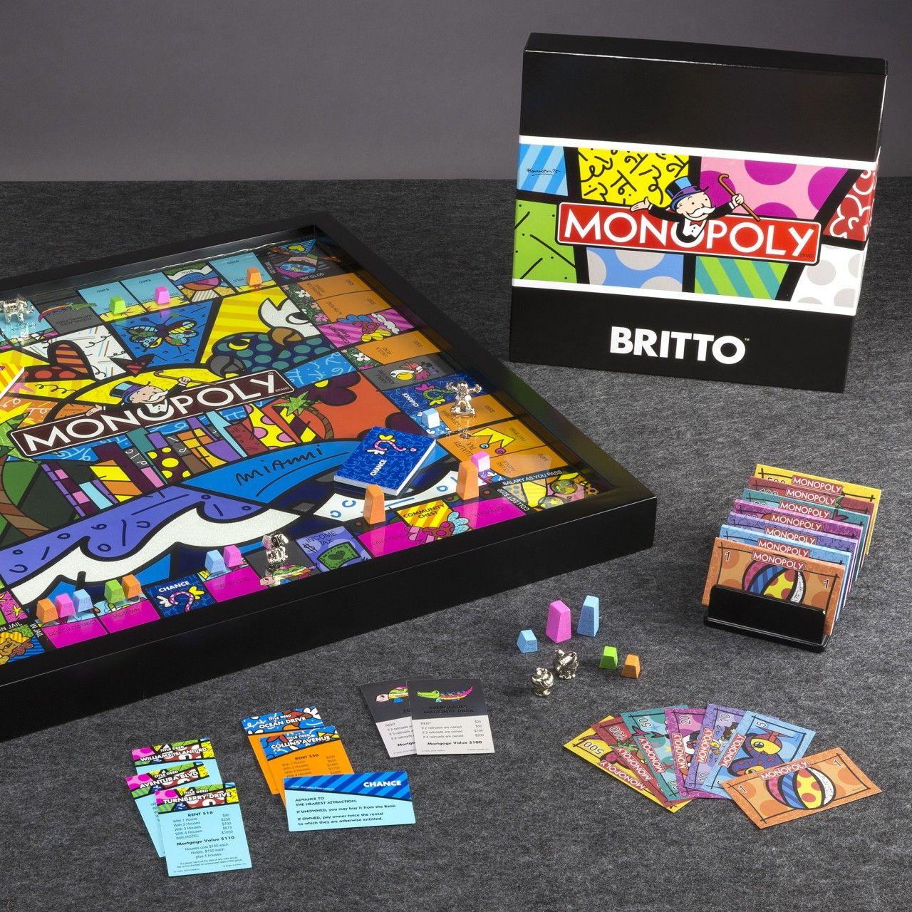 Monopoly Miami Edition Board Game by Romero Britto Board