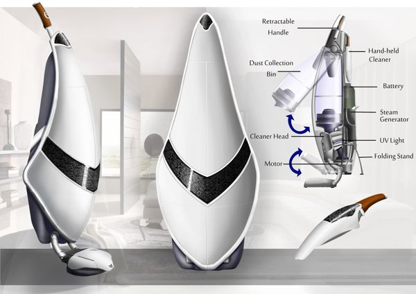 Viola Home Cleaning System 2020 by Jonathan Turner, via Behance